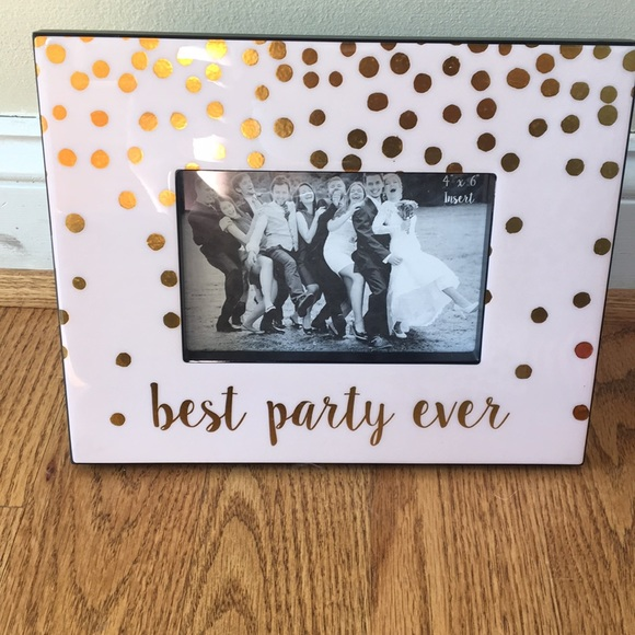 Best Party Ever 4x6 Picture Frame Nwt